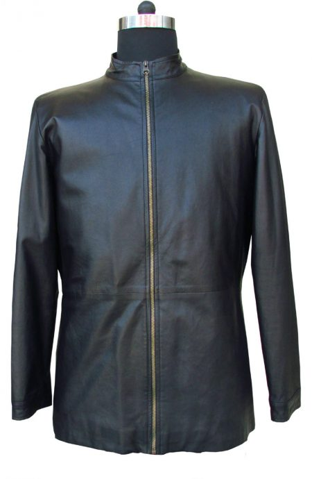 Tom Cruise leather jacket replica from Minority Report. A full front view.