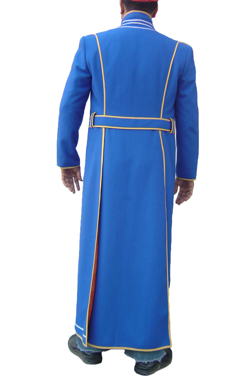 100% screen accurate Vergil coat replica from Devil May Cry 3. A full-back view.