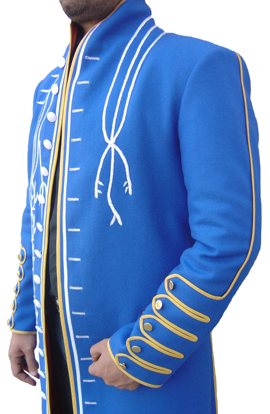 100% screen accurate Vergil coat replica from Devil May Cry 3. A sleeve detail view.