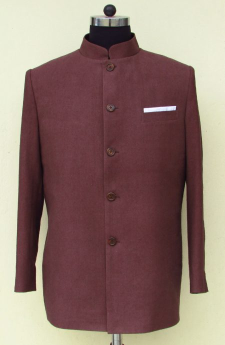 Silk Nehru jacket from James Bond movie Dr. No. A full front view.