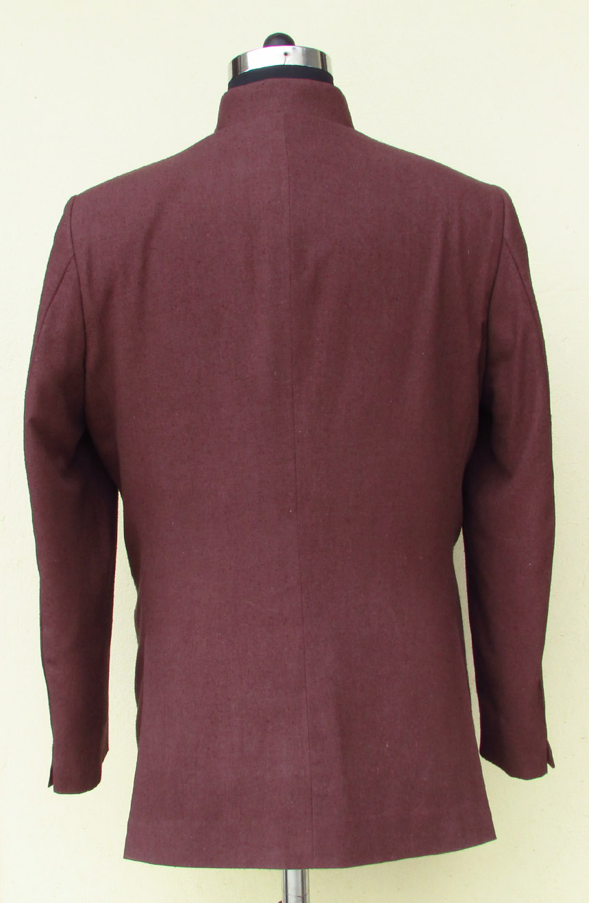 Silk Nehru jacket from James Bond movie Dr. No. A full back view.