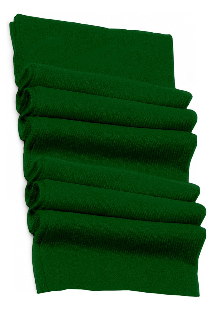 Pure cashmere blanket for baby in hunter green super soft promotes the best sleep.