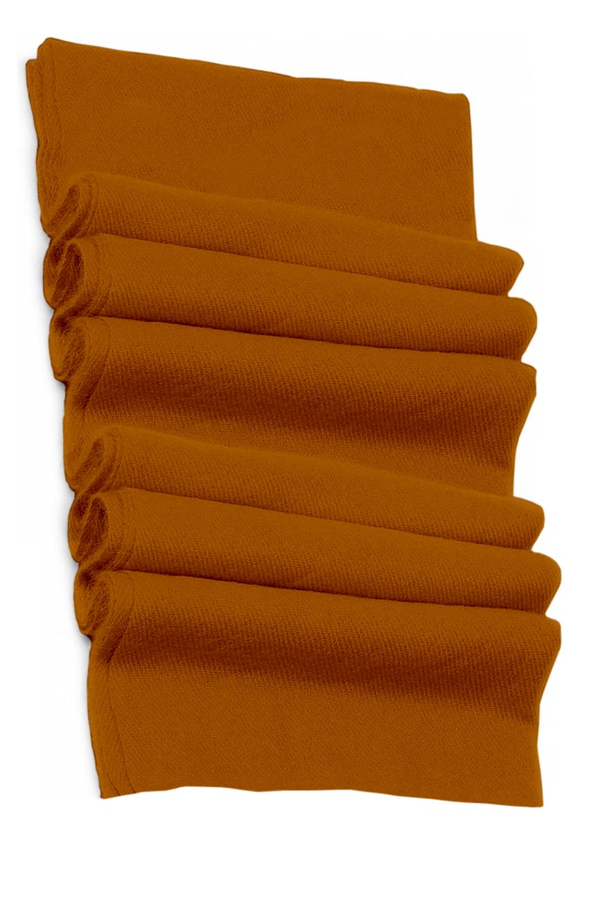 Pure cashmere blanket for baby in carrot orange super soft promotes the best sleep.