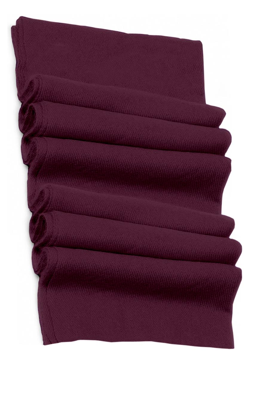 Pure cashmere blanket for baby in wine berry color super soft promotes the best sleep.