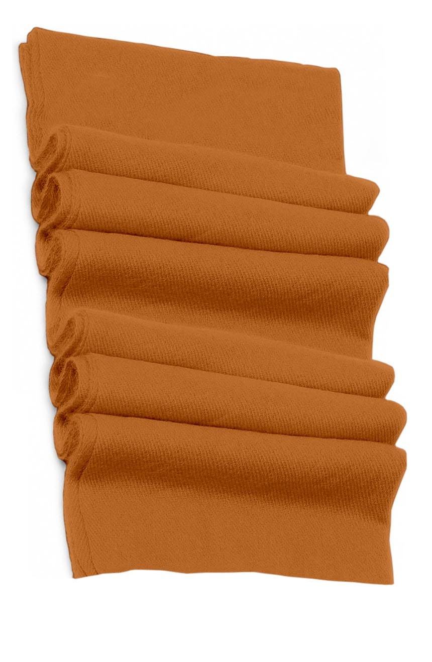 Pure cashmere blanket for baby in fiery orange super soft promotes the best sleep.