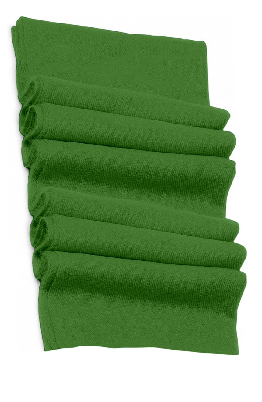 Pure cashmere blanket for baby in patina green super soft promotes the best sleep.