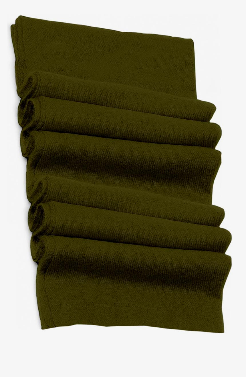 Pure cashmere blanket for baby in olive super soft promotes the best sleep.