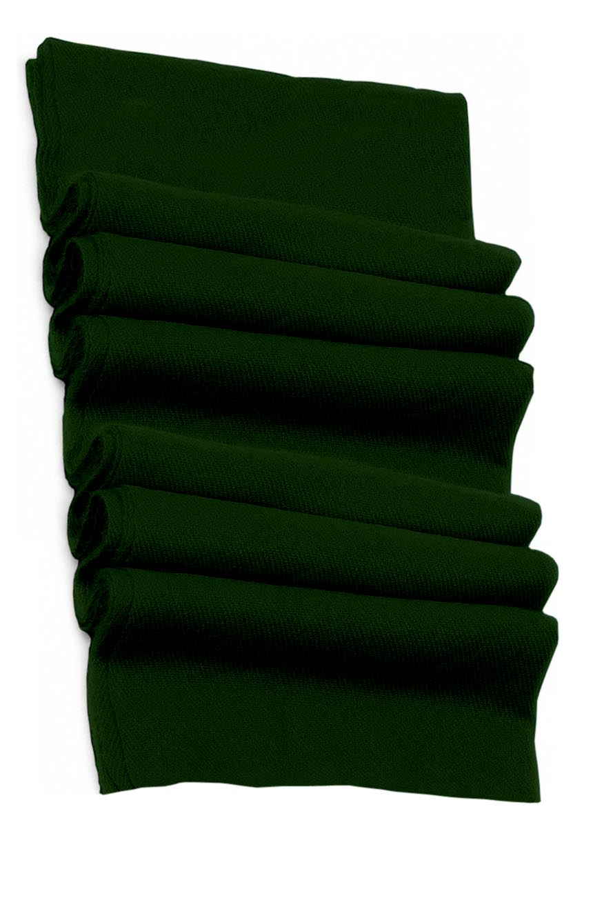 Pure cashmere blanket for baby in forest green super soft promotes the best sleep.