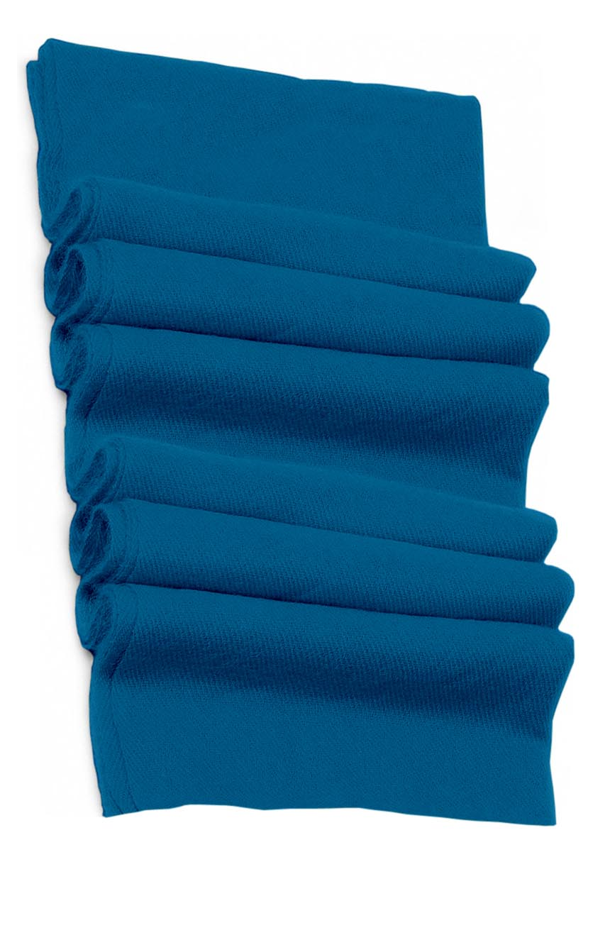 Pure cashmere blanket for baby in blue teal super soft promotes the best sleep.