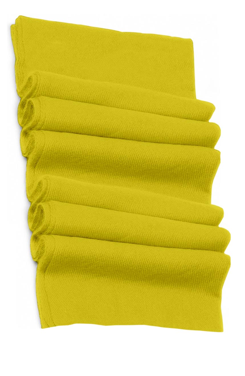 Pure cashmere blanket for baby in baby yellow super soft promotes the best sleep.