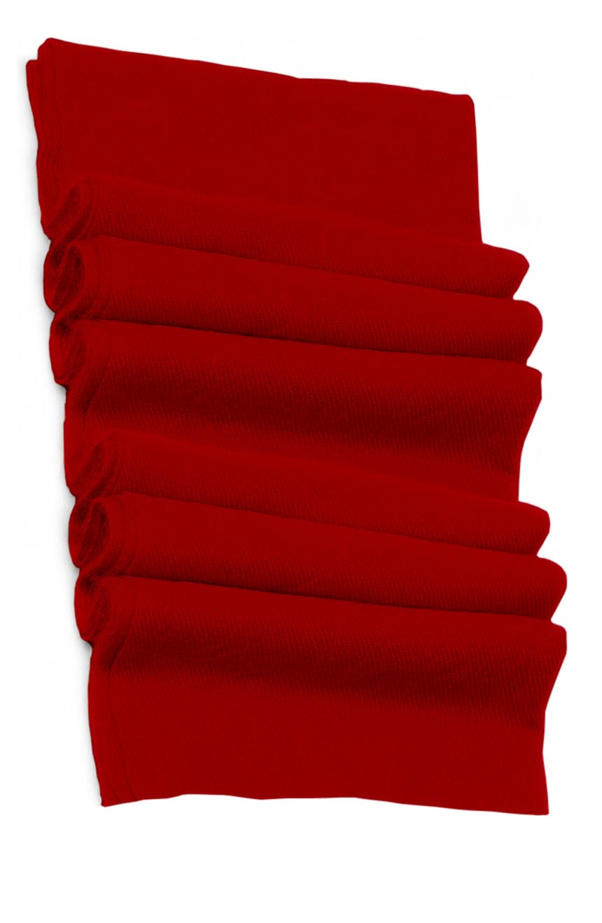 Pure cashmere blanket for baby in scarlet red super soft promotes the best sleep.