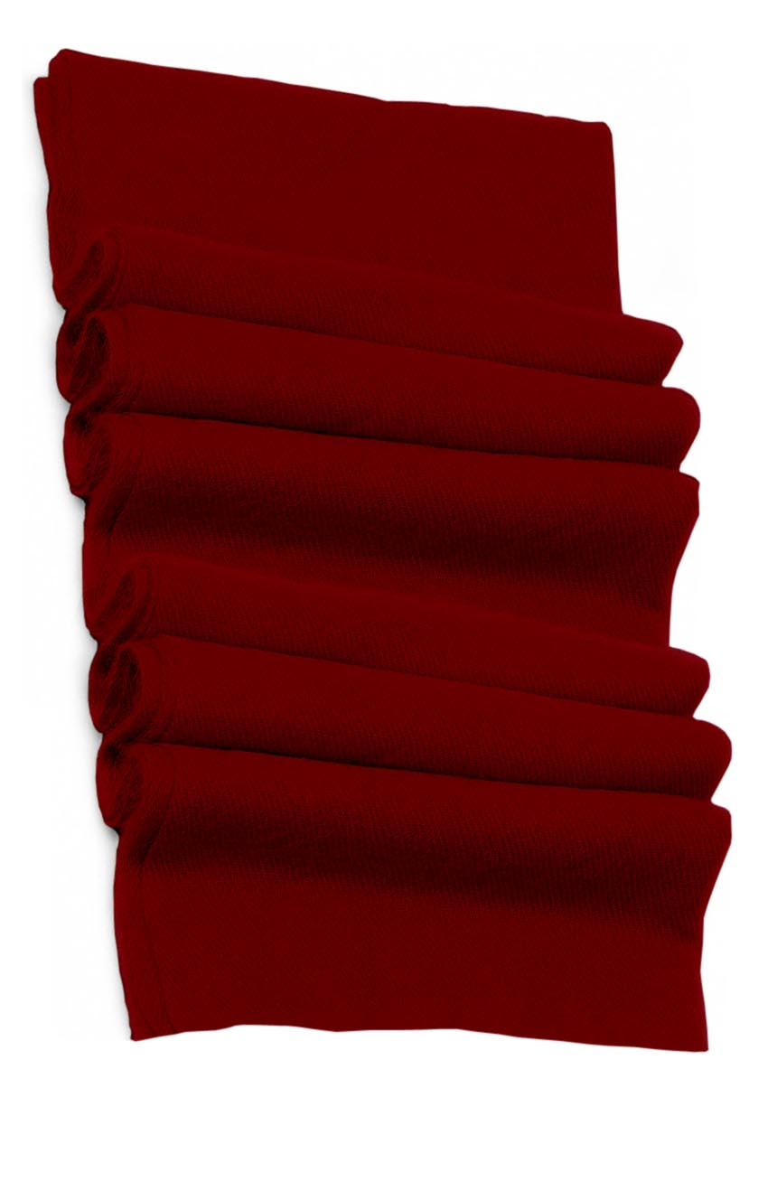 Pure cashmere blanket for baby in garnet super soft promotes the best sleep.