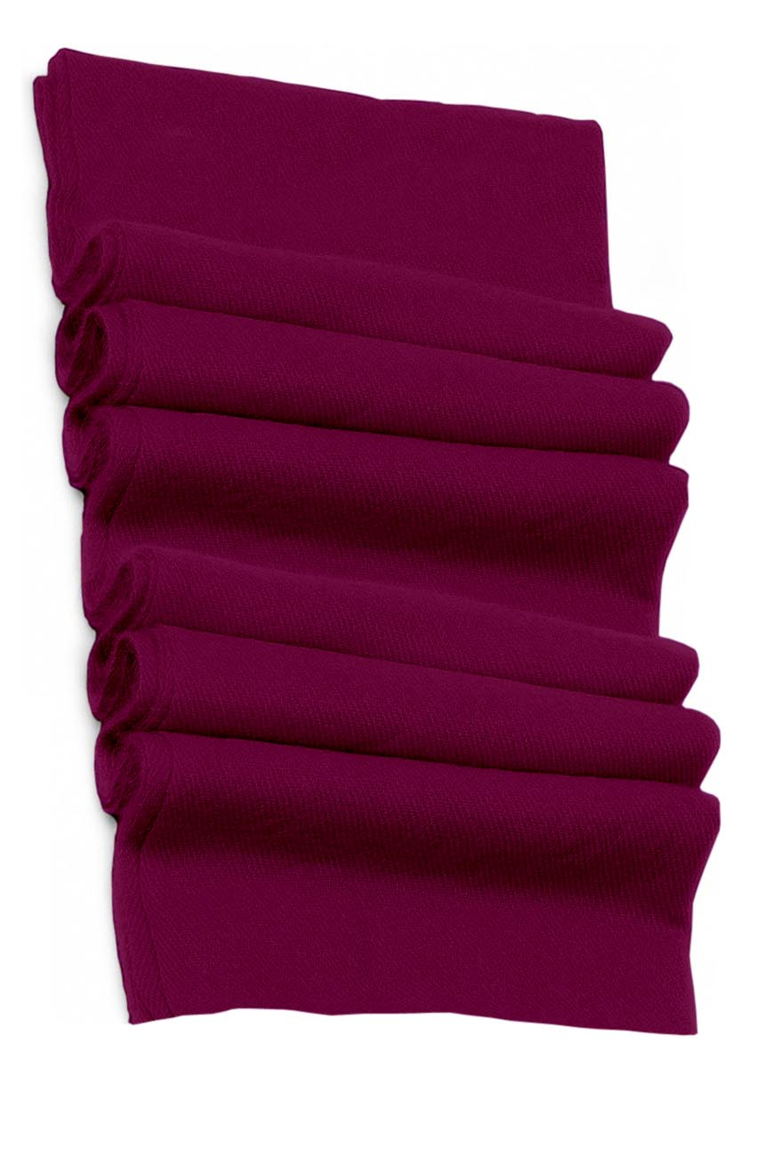 Pure cashmere blanket for baby in plum super soft promotes the best sleep.