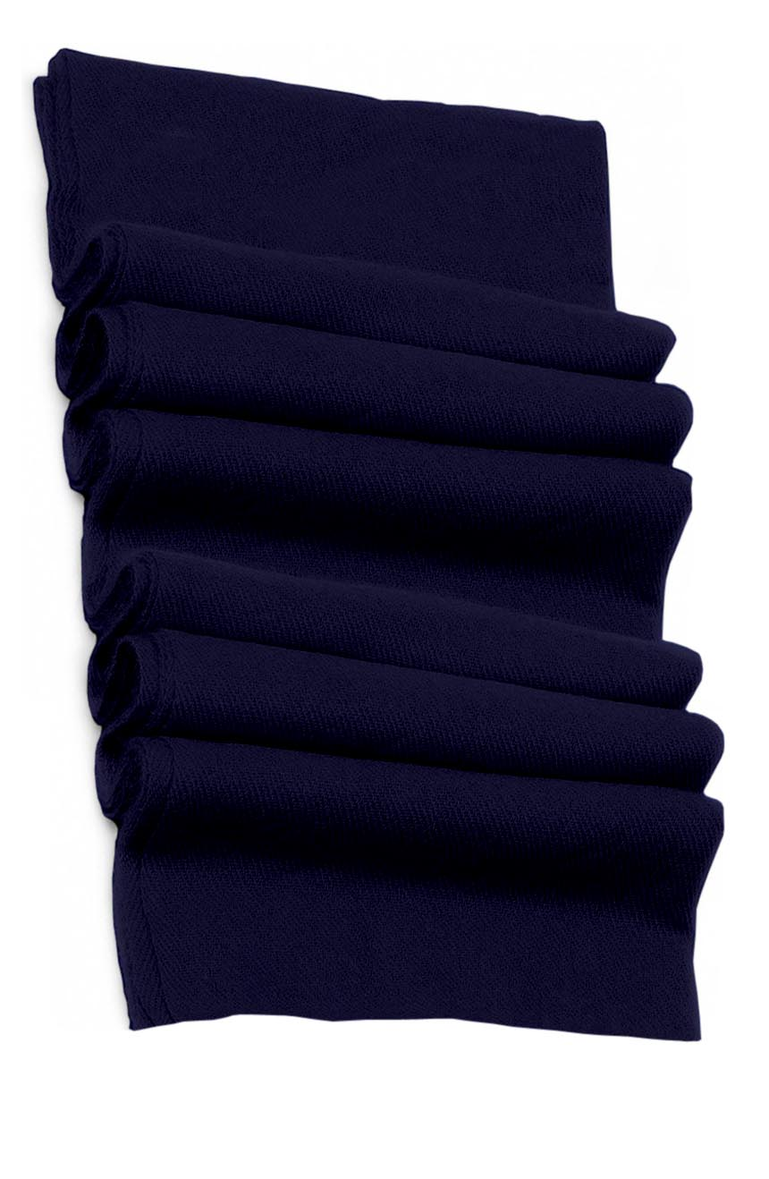 Pure cashmere blanket for baby in deep navy super soft promotes the best sleep.