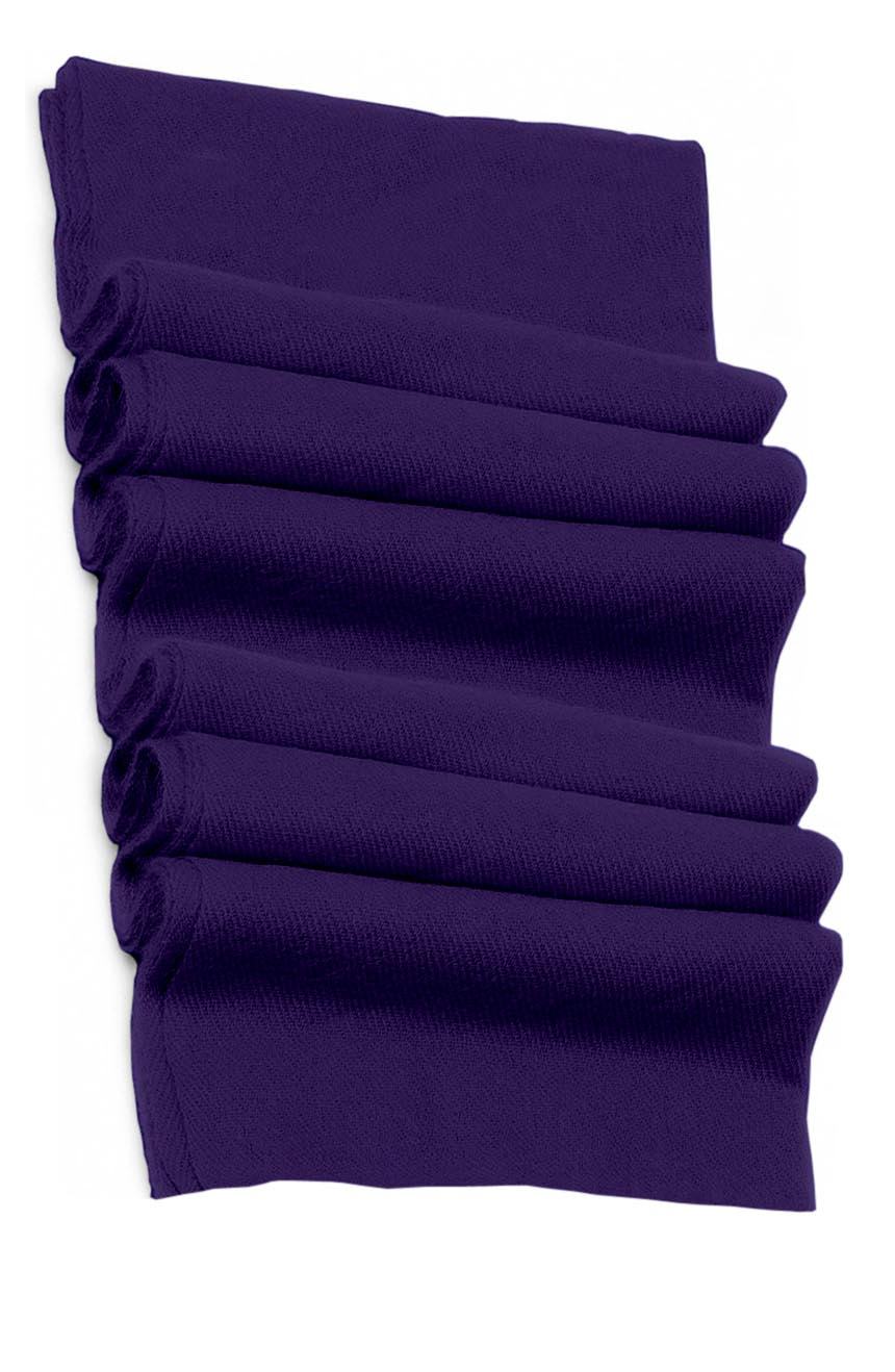 Pure cashmere blanket for baby in deep purple super soft promotes the best sleep.