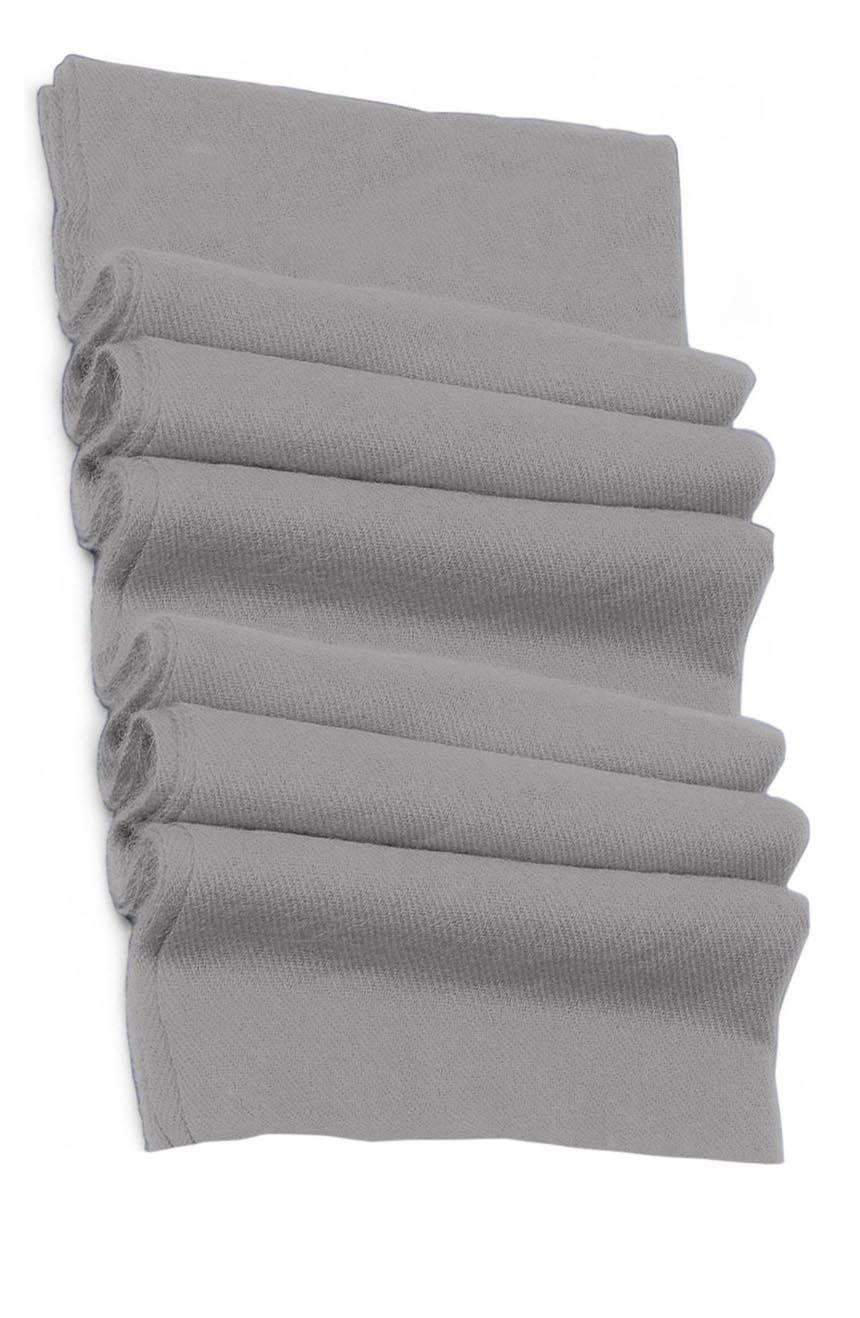 Pure cashmere blanket for baby in light silver grey super soft promotes the best sleep.
