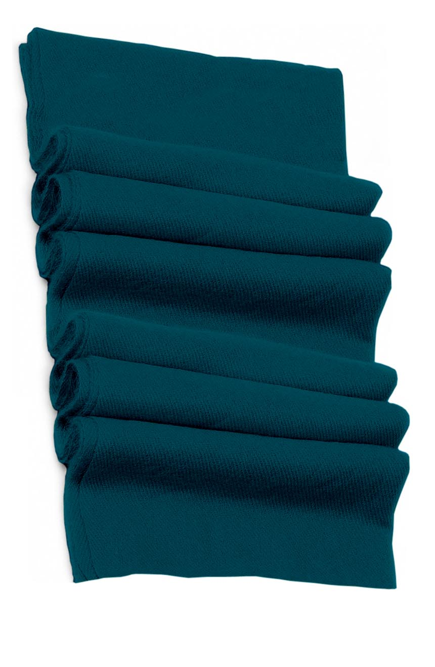 Pure cashmere blanket for baby in green teal super soft promotes the best sleep.