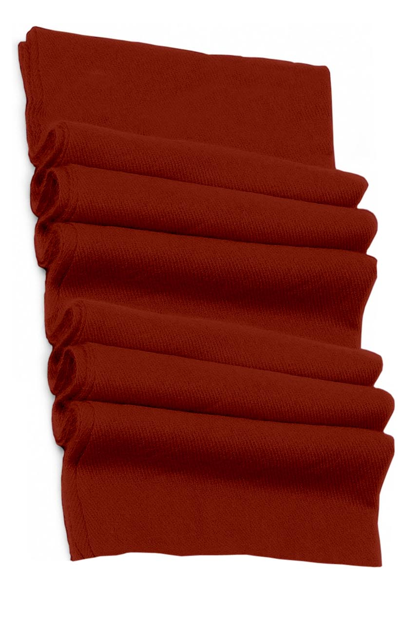 Pure cashmere blanket for baby in orange brick super soft promotes the best sleep.