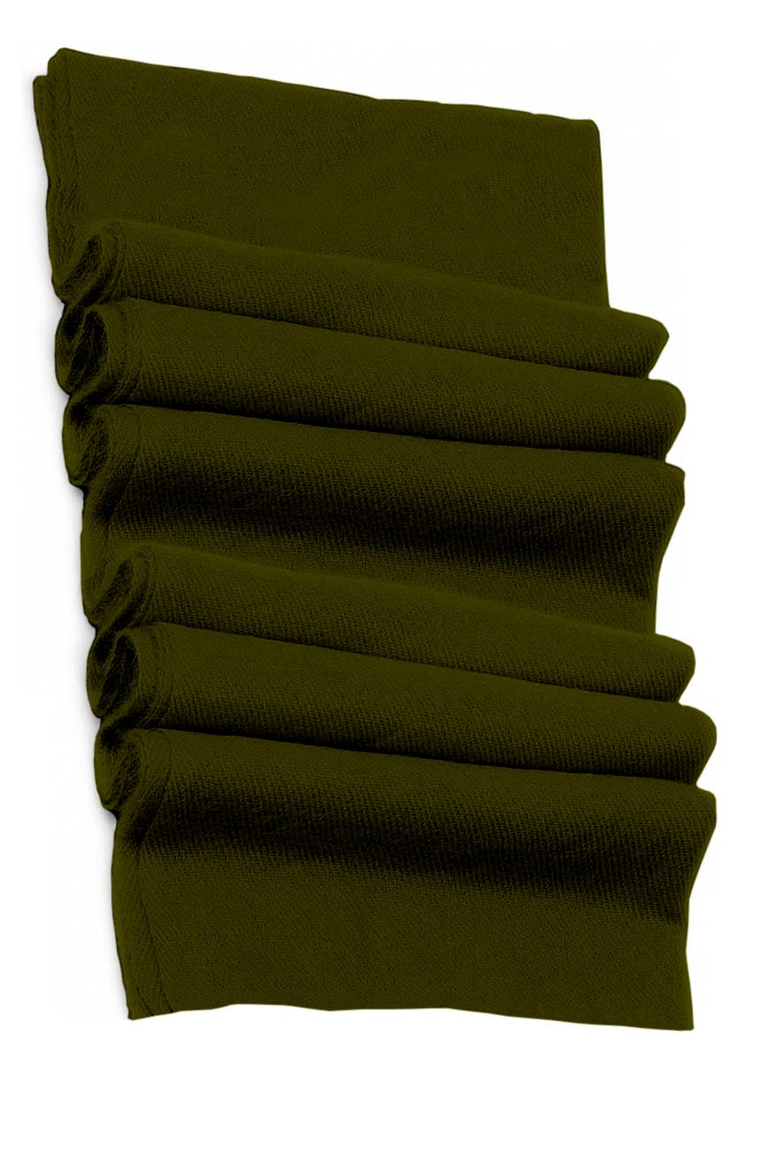 Pure cashmere blanket for baby in dark olive super soft promotes the best sleep.