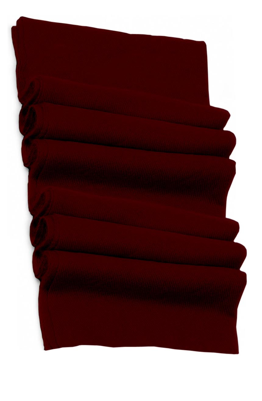 Pure cashmere blanket for baby in dark burgundy super soft promotes the best sleep.