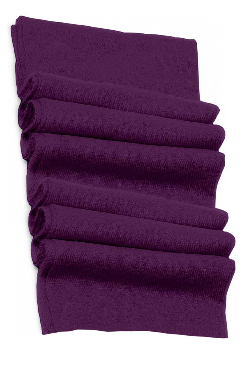 Pure cashmere blanket for baby in aubergine super soft promotes the best sleep.