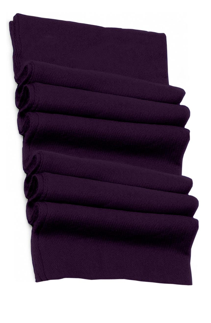 Pure cashmere blanket for baby in royal purple super soft promotes the best sleep.