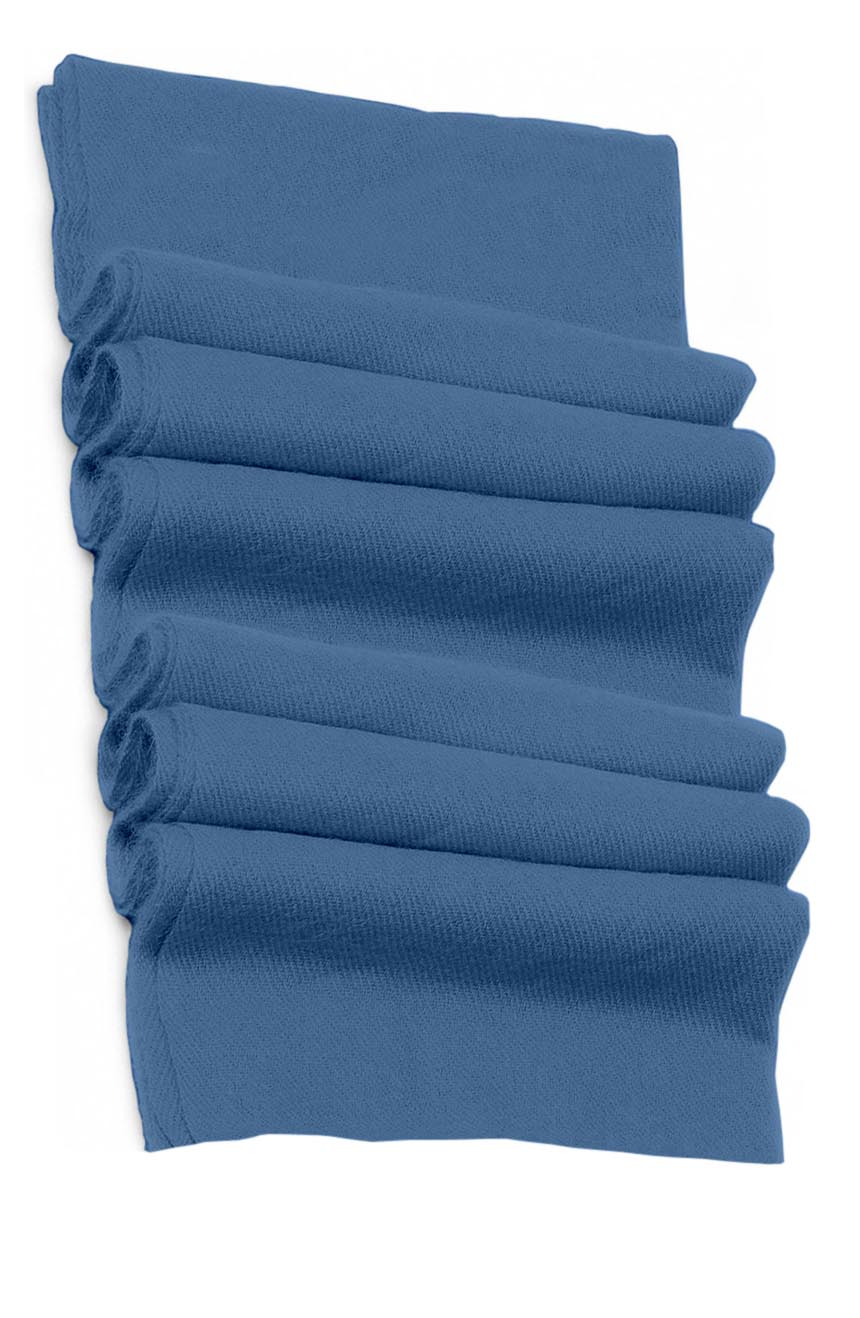 Pure cashmere blanket for baby in baby blue super soft promotes the best sleep.