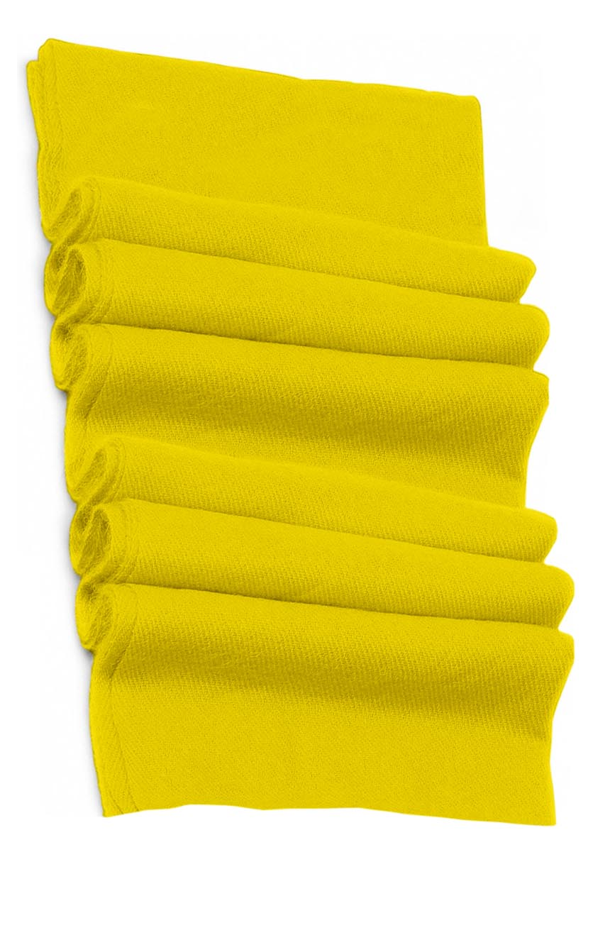 Pure cashmere blanket for baby in yellow super soft promotes the best sleep.