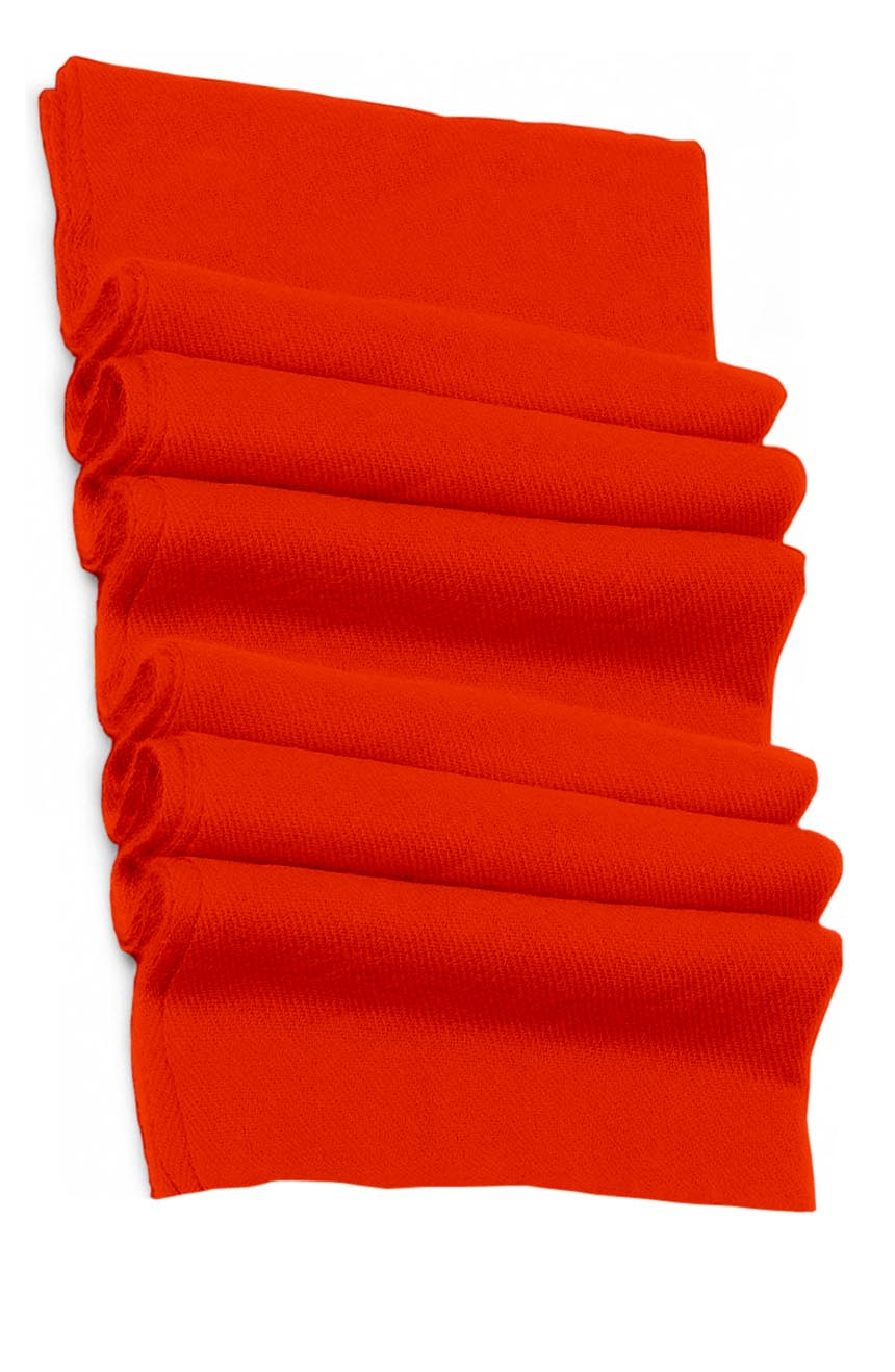 Pure cashmere blanket for baby in vibrant orange super soft promotes the best sleep.
