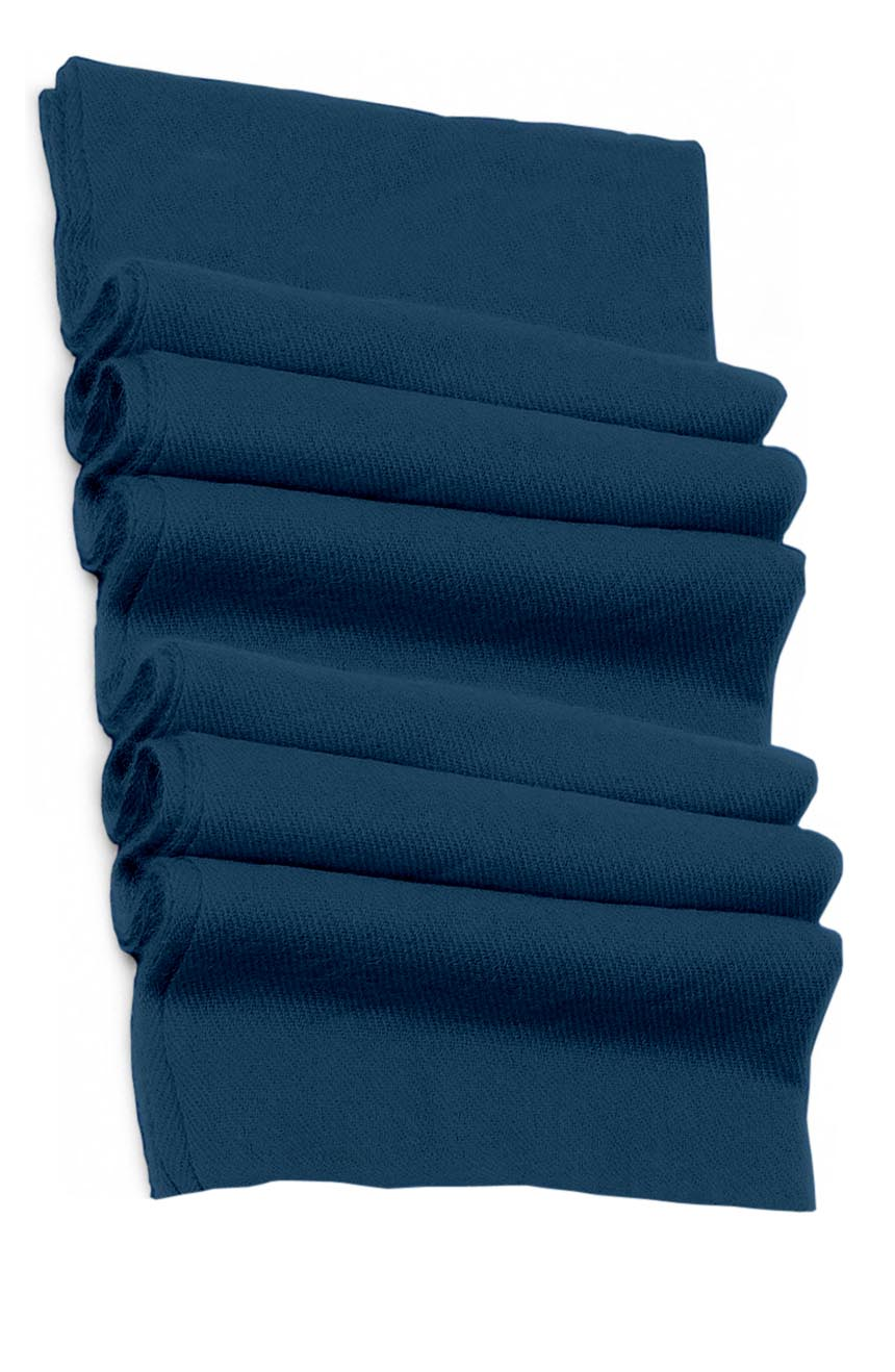 Pure cashmere blanket for baby in teal blue super soft promotes the best sleep.