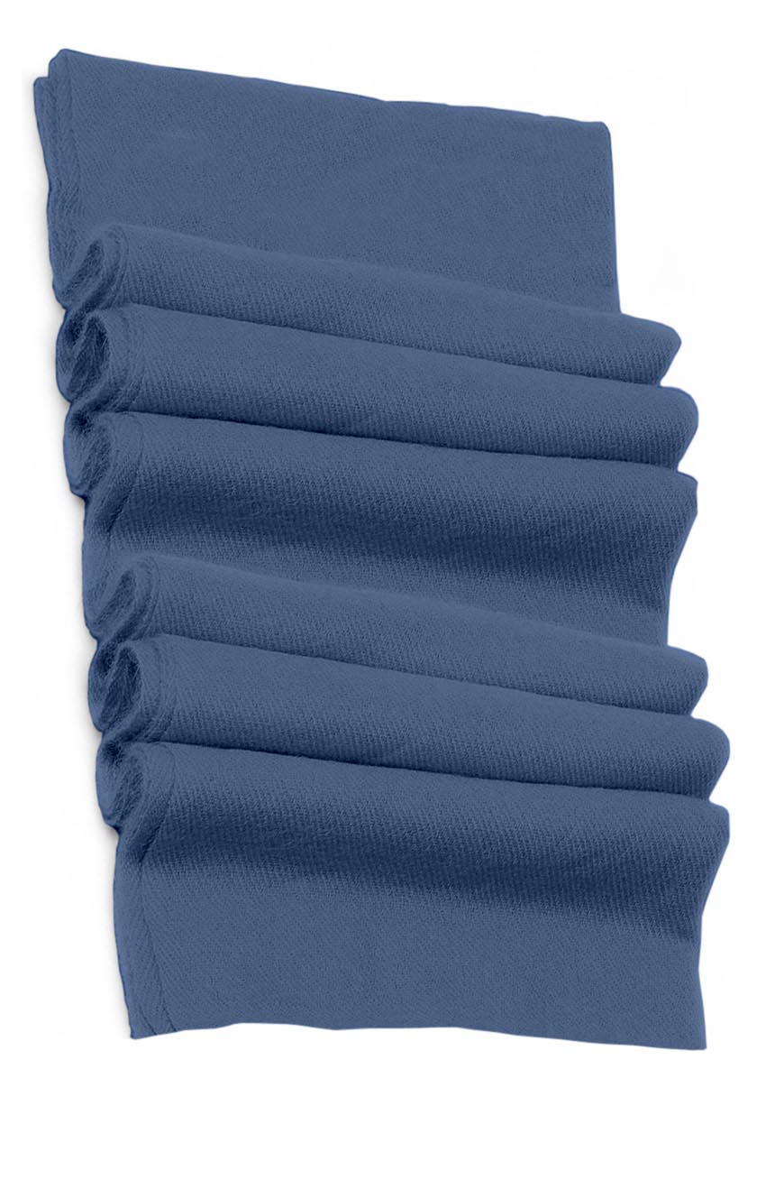 Pure cashmere blanket for baby in slate blue super soft promotes the best sleep.