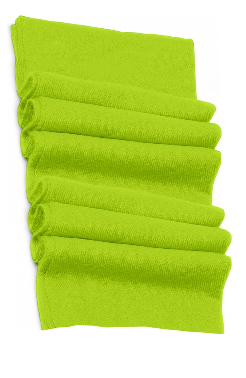 Pure cashmere blanket for baby in chartreuse green super soft promotes the best sleep.