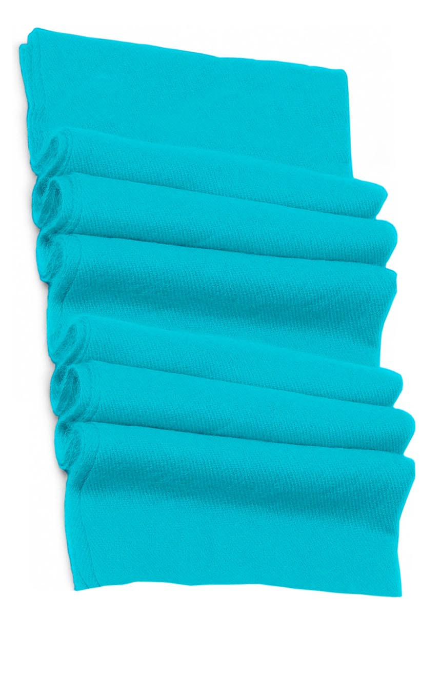Pure cashmere blanket for baby in turquoise super soft promotes the best sleep.
