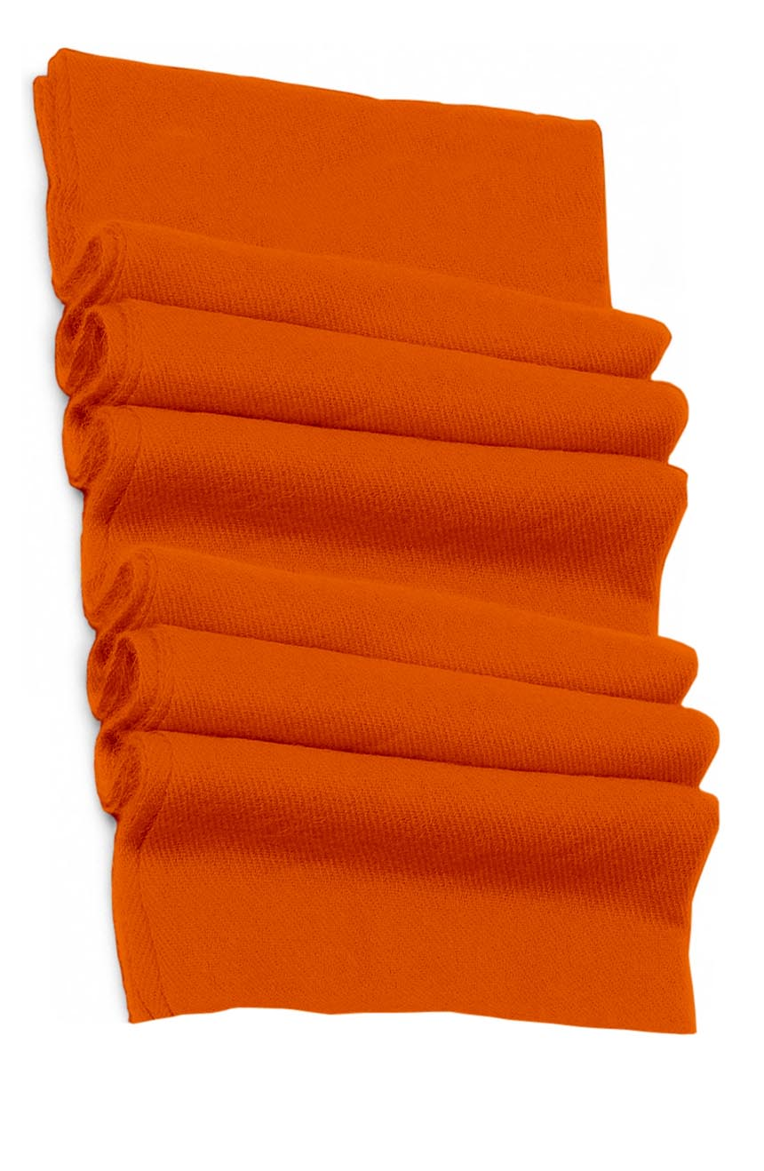Pure cashmere blanket for baby in pumpkin super soft promotes the best sleep.