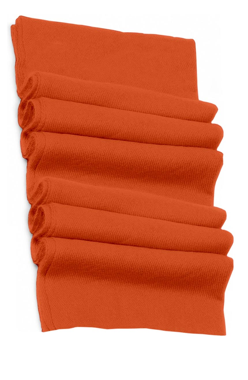 Pure cashmere blanket for baby in peppermint orange super soft promotes the best sleep.