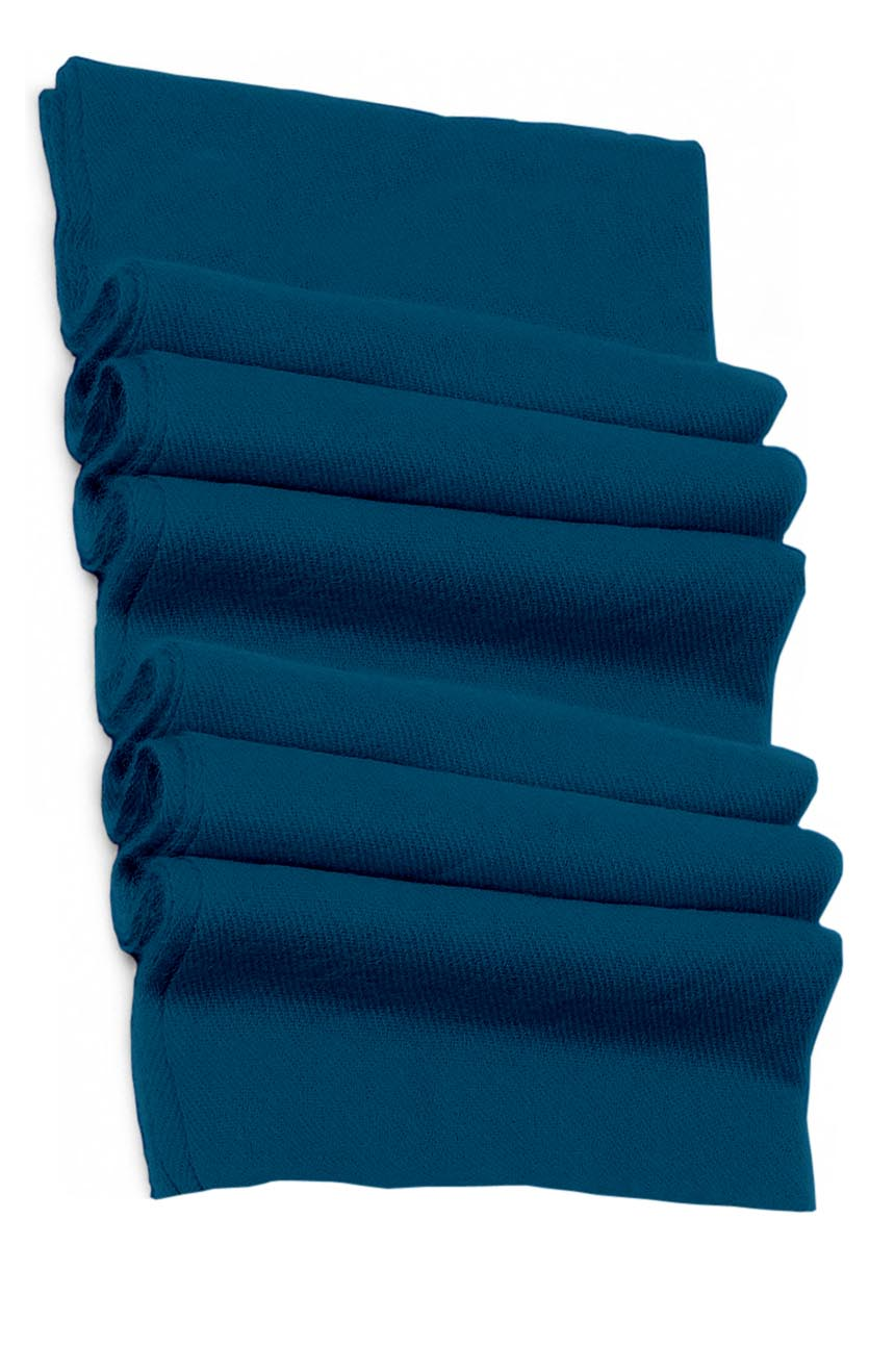 Pure cashmere blanket for baby in petrol blue super soft promotes the best sleep.