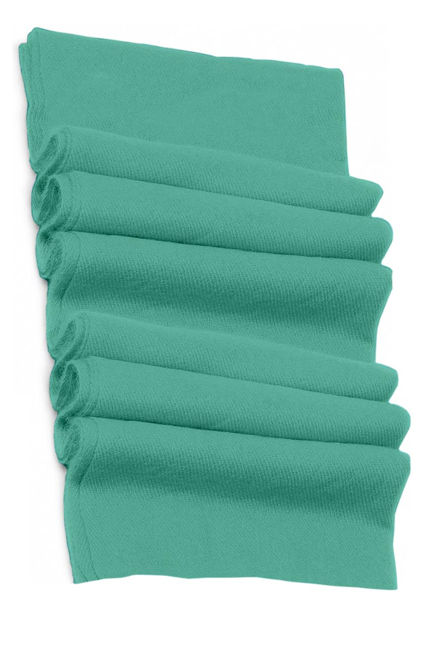 Pure cashmere blanket for baby in aquamarine super soft promotes the best sleep.