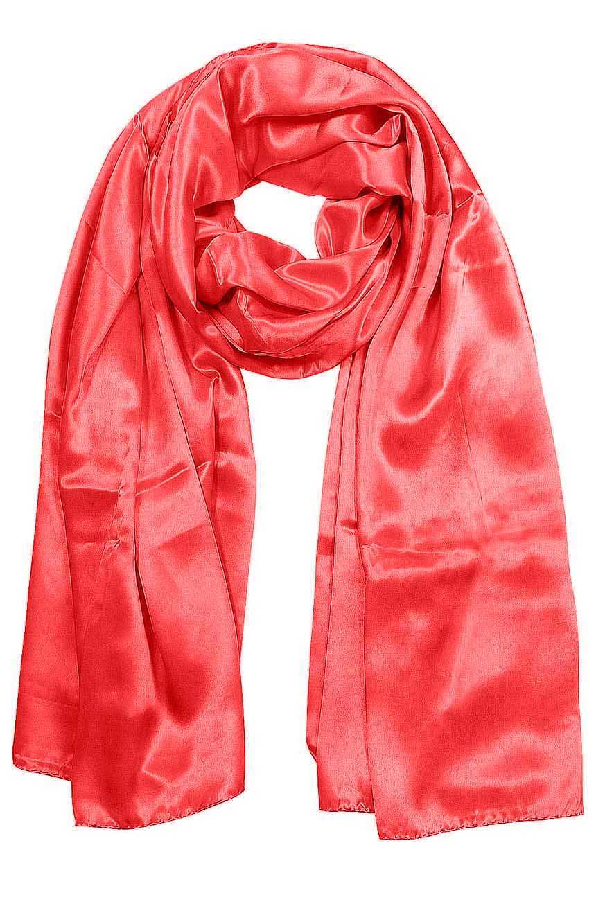Womens silk neck scarf in dark fuchsia 22×75 inches with plenty of material to wrap around the head or shoulders in many ways.