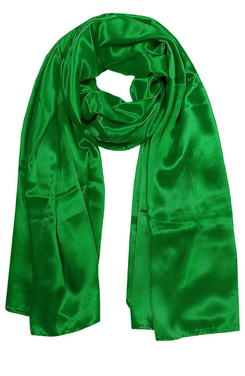 Womens silk neck scarf in eucalyptus green 22×75 inches with plenty of material to wrap around the head or shoulders in many ways.