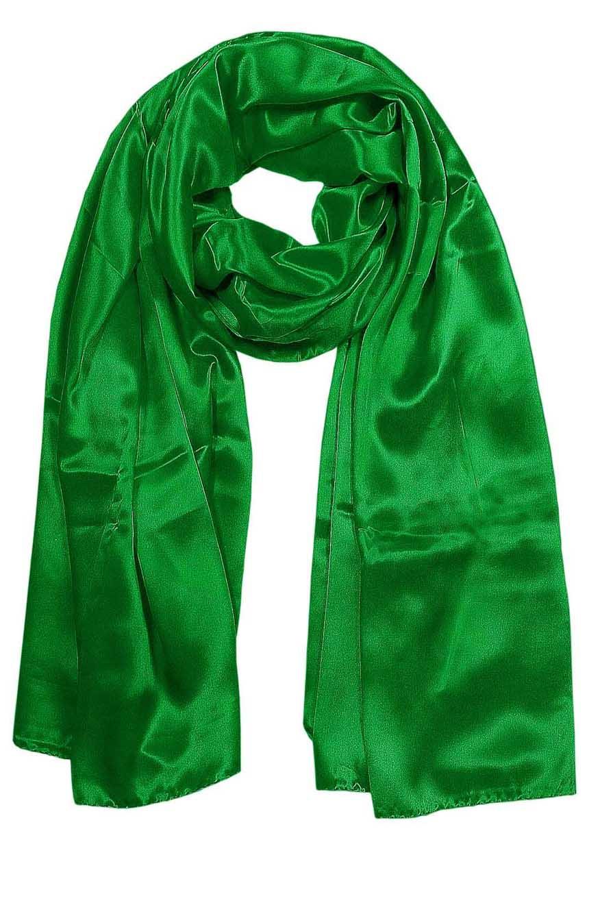 Eucalyptus green mens aviator silk neck scarf 75 inches long in 100% pure satin silk.