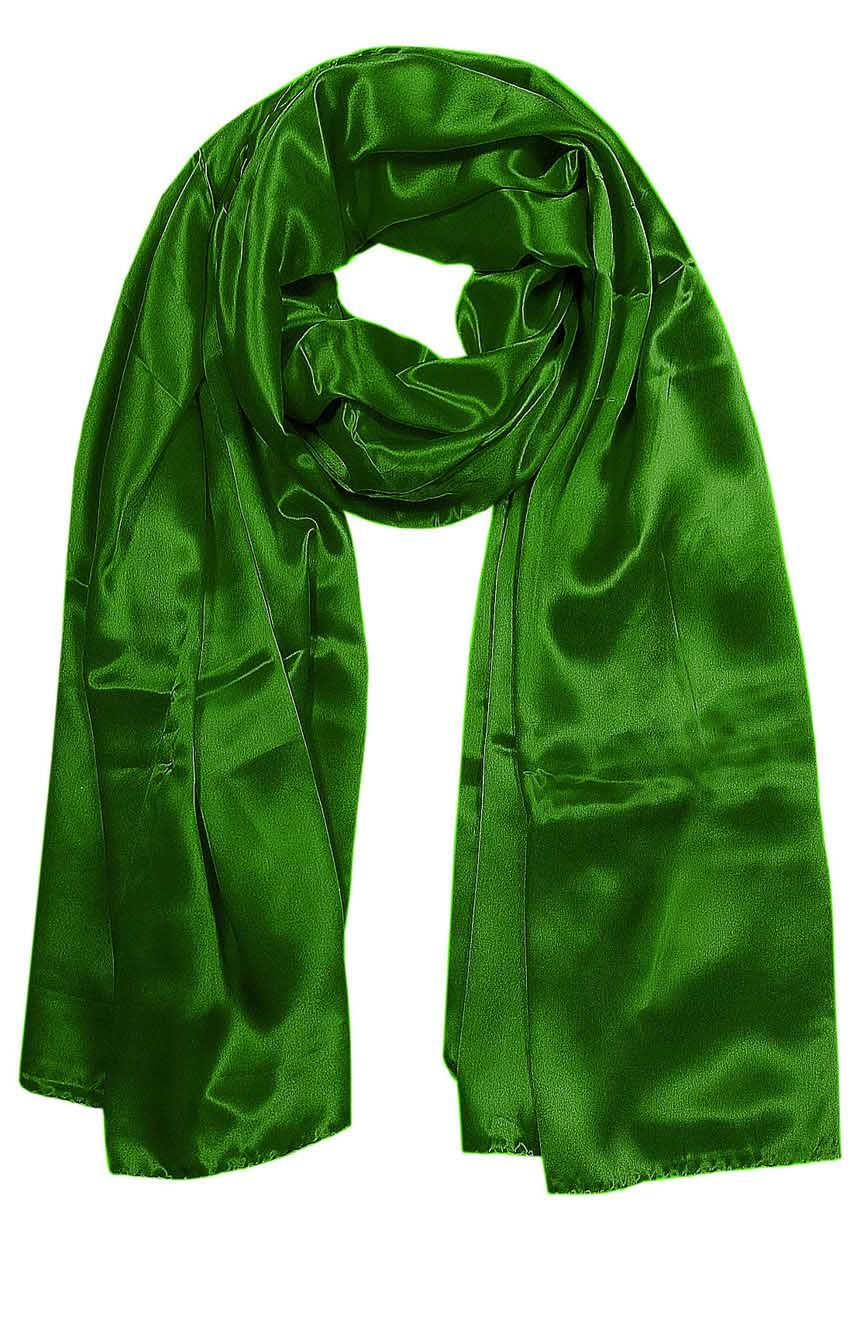Patina Green mens aviator silk neck scarf 75 inches long in 100% pure satin silk.