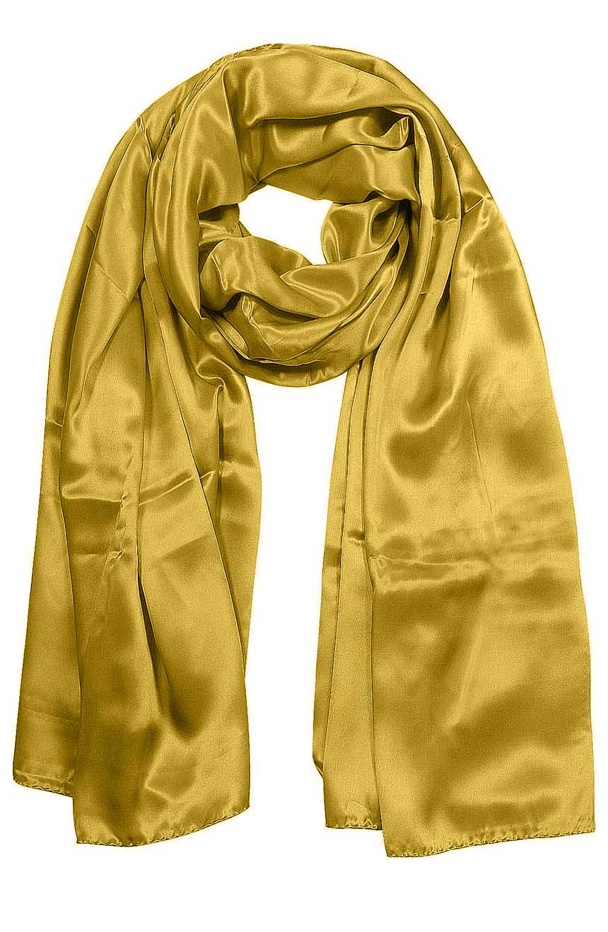 Womens silk neck scarf in butterscotch 22×75 inches with plenty of material to wrap around the head or shoulders in many ways.