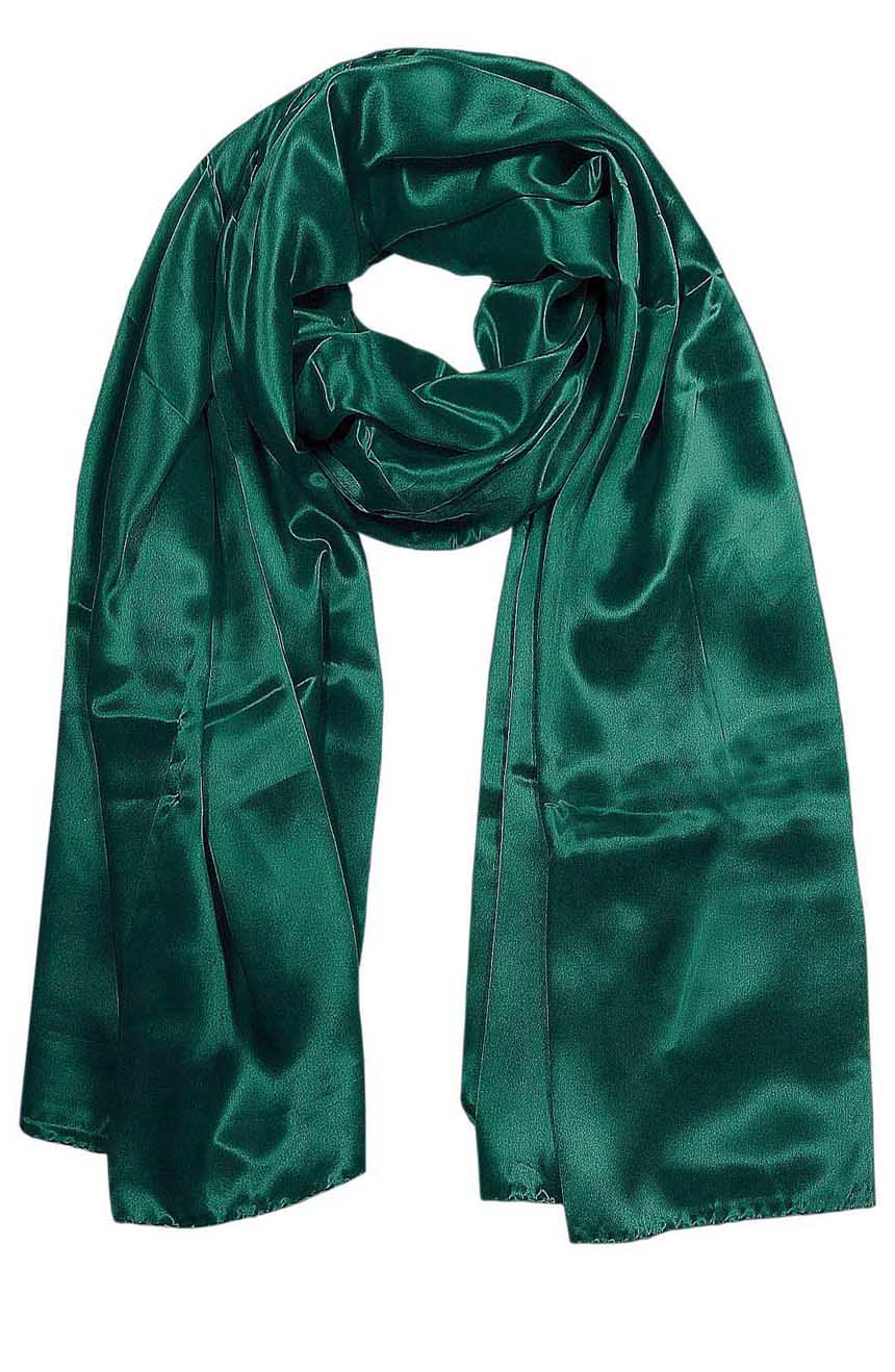 Womens silk neck scarf in Sacramento green 22×75 inches with plenty of material to wrap around the head or shoulders in many ways.