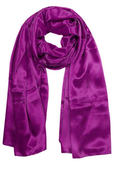 Womens silk neck scarf in plum 22×75 inches with plenty of material to wrap around the head or shoulders in many ways.
