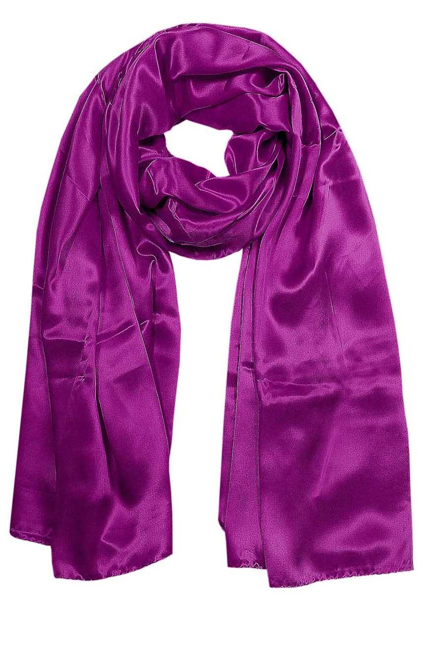 Plum mens aviator silk neck scarf 75 inches long in 100% pure satin silk.