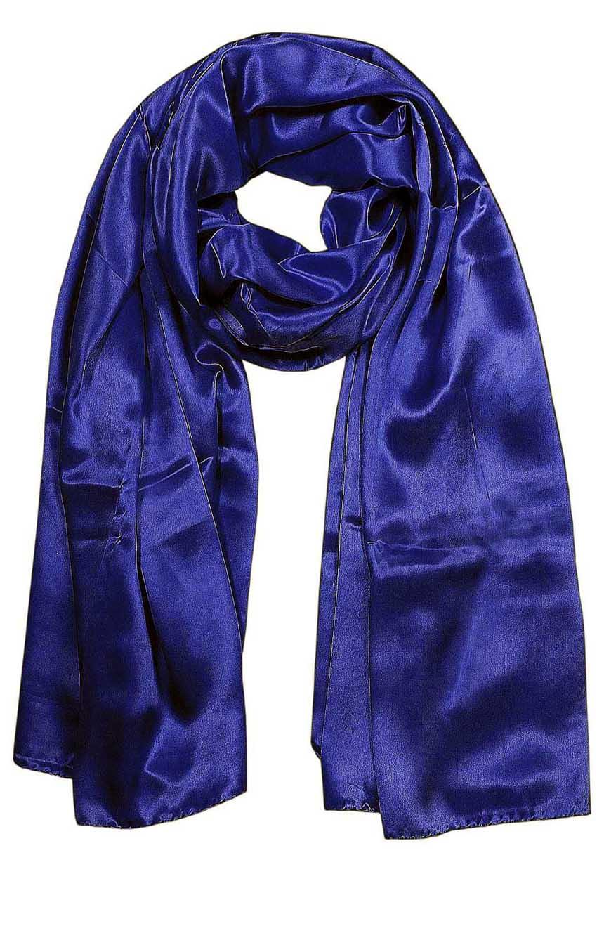 Deep Navy mens aviator silk neck scarf 75 inches long in 100% pure satin silk.