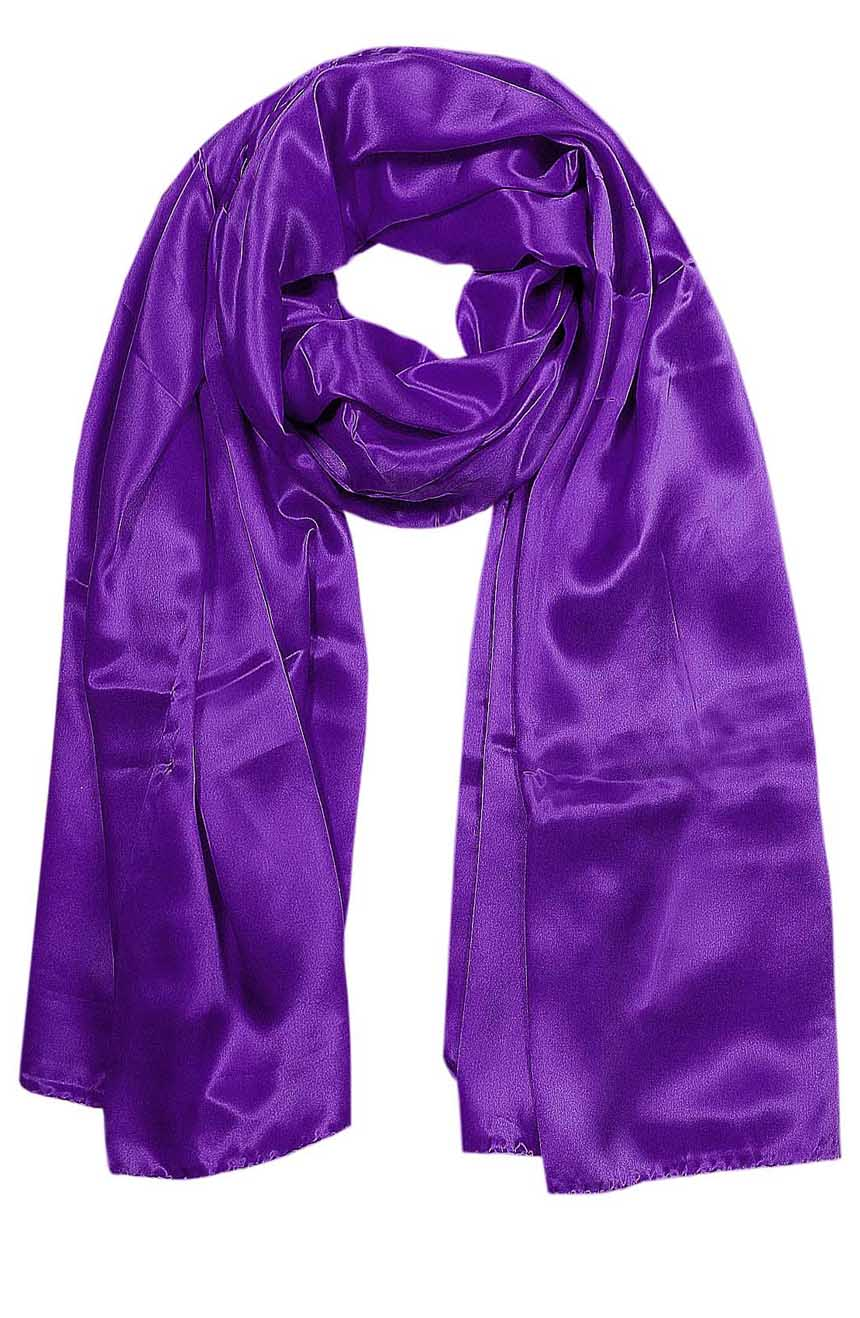 Womens silk neck scarf in light purple 22×75 inches with plenty of material to wrap around the head or shoulders in many ways.