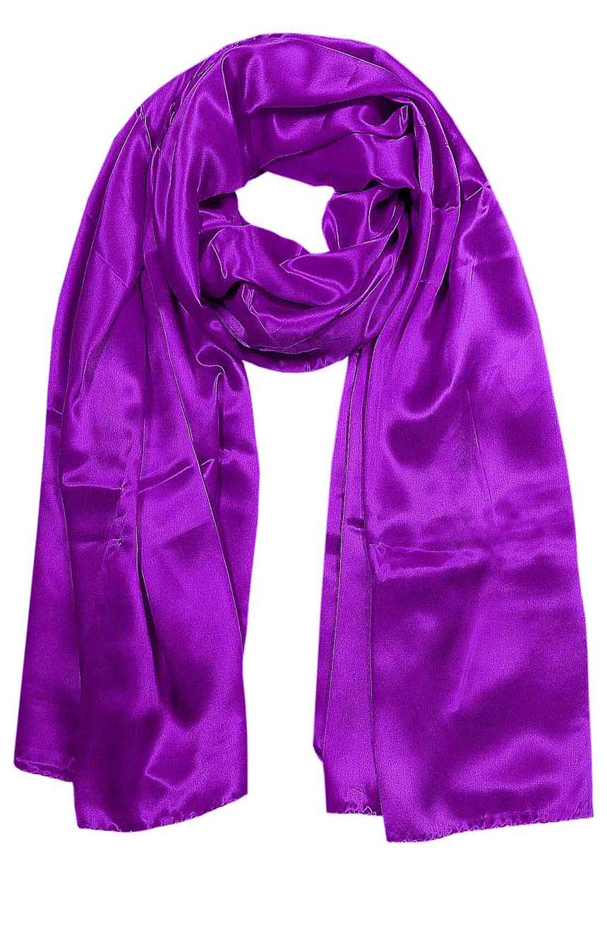 Aubergine mens aviator silk neck scarf 75 inches long in 100% pure satin silk.