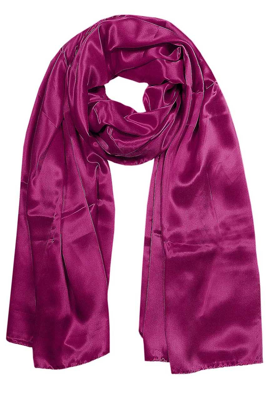 Tyrian Purple mens aviator silk neck scarf 75 inches long in 100% pure satin silk.