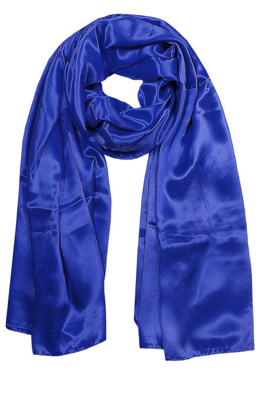 Persian Blue mens aviator silk neck scarf 75 inches long in 100% pure satin silk.